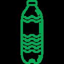 Water bottle green icon