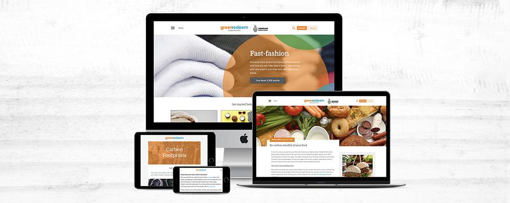 An example of a Greenredeem campaign across digital platforms