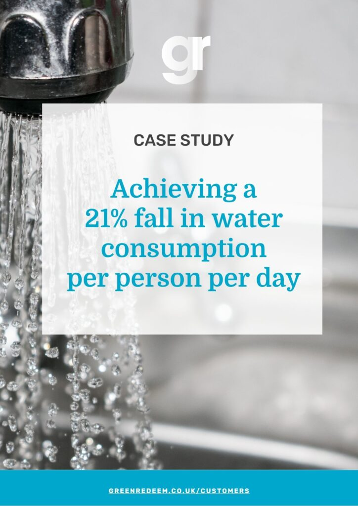 Case study: 21% fall in water consumption