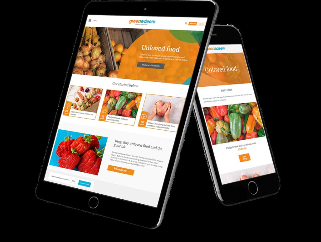 Greenredeem - Digital platform iPad and mobile