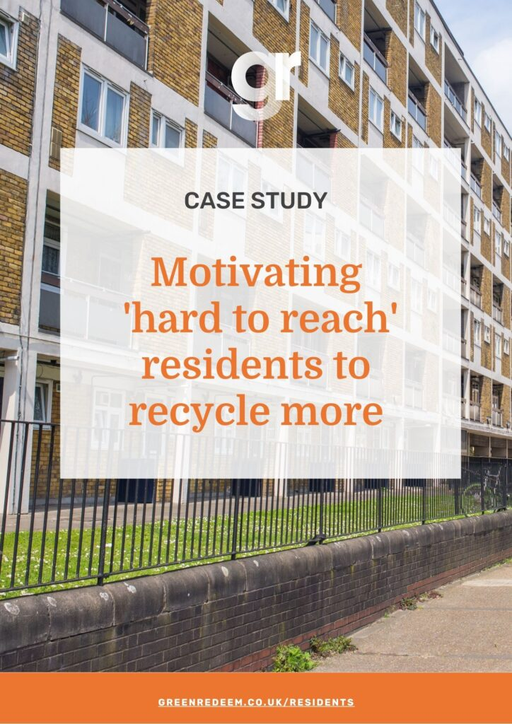 Case study: Motivating 'hard to reach' audiences to recycle more